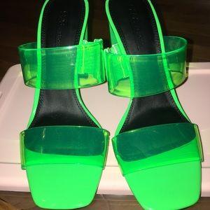 BRAND NEW ASOS Neon Green Sandal Size 8